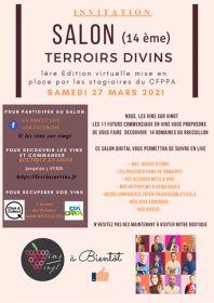 14ème salon TERROIRS DIVINS qui aura lieu le Samedi 27 mars 2021 au CFPPA de Rivesaltes.