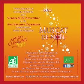 Le vendredi 29/11 à 19h Dégustation et présentation du Muscat de Noël bio 2013 au Domaine Ey
