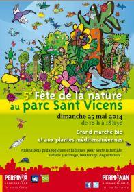 5ième fête de la Nature au parc Sant Vicens à Perpignan dimanche 25 mai 2014.