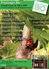 Printemps Bio le samedi 8 juin de 10h à 20h aux Saveurs Paysannes à St  Estève