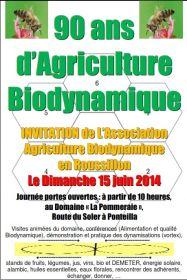 Biodynamie en Roussillon vous invite  à venir fêter 90 ans d'Agriculture Biodynamique le dimanche 15 juin