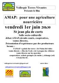 Vallespir Terres vivantes vous invite à voir le film AMAP le 1er juin à 20h30 à St Jean Pla de Corts