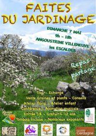 Faites du jardinage le dimanche 7 mai à Angoustrine Villeneuve les Escalades