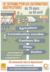 13e semaine pour les alternatives aux pesticides du 19 mars au 4 avril 2018
