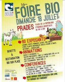 16e Foire Bio le dimanche 18 juillet à Prades