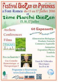 Festival BioZen en Pyrénées du 13 au 17 JUILLET 2016