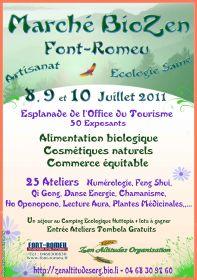 Marché BioZen à Font-Romeu les 8, 9 et 10 juillet