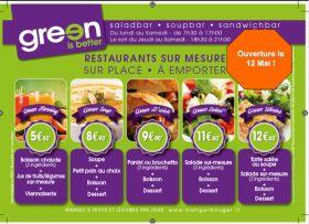Le restaurant 'Green is better' ouvre ses portes le 12 mai !