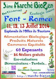 5ème Marché BioZen 11, 12, 13, Juillet 2014