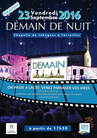 Vendredi 23 septembre 2016 : DEMAIN DE NUIT à la Chapelle de Juhègues à Torreilles