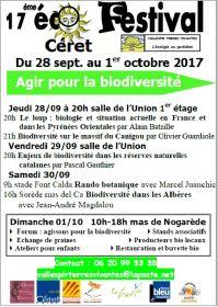 17ième Eco Festival de Céret du 28 sept. au 1er octobre 2017