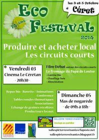 14ème Eco-Festival organisé par Vallespir, Terres Vivantes le dimanche 5 octobre