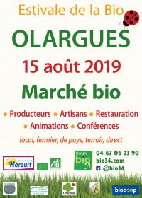 Estivale de la Bio d'Olargues le 15 août 2019