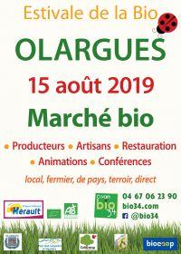 23ème édition de l'Estivale de la Bio à Olargues le 15 août 2019