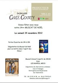 Venez fêter avec nous notre 14ième Muscat de Noël Le samedi 24 novembre 2012