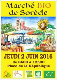 Marché Bio de Sorède le jeudi 2 juin
