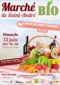 Marché Bio de Saint-André le dimanche 13 juin 2021 au Théâtre de Verdure