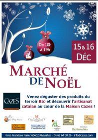La Maison Cazes organise le 1er marché de Noël 100% Bio à Rivesaltes les 15 et 16 décembre
