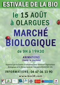 Estivale de la Bio le 15/08 à Olargues (34)