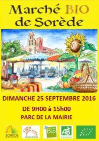 Foire Bio de Sorède le Dimanche 25 septembre de 9h à 15h au Parc de la Mairie.