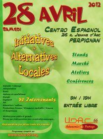 Initiatives et Alternatives locales le samedi 28 avril au Centro Espagnol à Perpignan