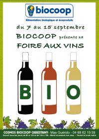 Biocoop Cabestany du 7 au 15 septembre découverte des producteurs de vins bio locaux