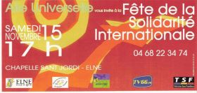 FETE DE LA SOLIDARITE INTERNATIONALE