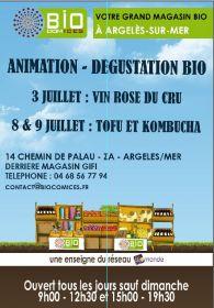 Animation et Dégustation Bio les 3, 8 et 9 juillet Chez BIOCOMICES