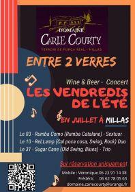 Apéro musical et repas au Domaine Carle-Courty à Millas ce Vendredi 3 juillet