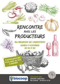 Rencontre avec les producteurs bio locaux, au magasin Biocoop de Cabestany Samedi 5 novembre de 9H à 19H