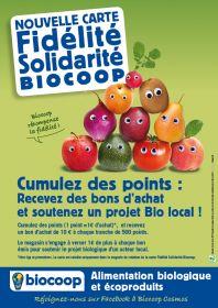 BIOCOOP  Cabestany, Claira et Perpignan vous propose leur carte de fidelité et de solidarité