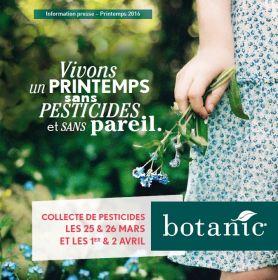 Botanic® renouvelle sa collecte de pesticides !