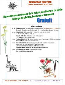 1re manifestation JARDIN - NATURE Dimanche 2 Mai