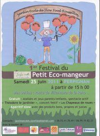 1er festival du petit éco-mangeur samedi 25 juin au mas Delfau