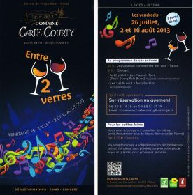 Entre deux verres - Dégustation vins, tapas concert au Domaine Carle Courty
