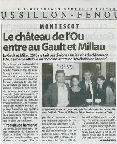 Le Château de l'Ou entre au Gault et Millau
