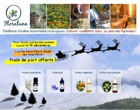 Les huiles essentielles Floraluna pour vos cadeaux de fin d'année. Le père Noël vous offre la livraison !