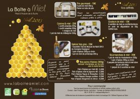 La Boîte à Miel vous propose ses coffrets de Noël et les fameux pains d'épices pour accompagner le foie gras !