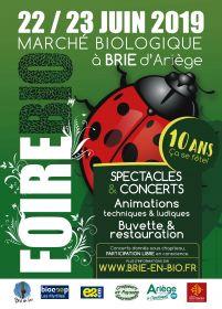 La Foire BIO de BRIE (en Ariège) fête ses 10 ans les 22 et 23 juin