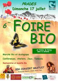 Foire Bio à Prades le 17 juillet 2011