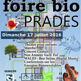 11ième Foire Bio de Prades organisée par Nature & Progrés le dimanche 17 juillet
