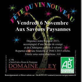Millésime 2015 le vendredi 6 novembre aux Saveurs Paysannes à Saint-Estève