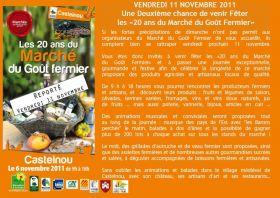 Le Marché de Castelnou est REPORTE au 11 Novembre