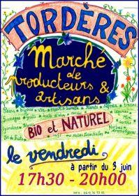 Reprise du petit Marché d'été à Tordères le 3 juin et tous les vendredis de 17h30 à 20h.