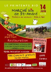 Marché bio de Saint-André le 14 juin 2015 au Théâtre de verdure