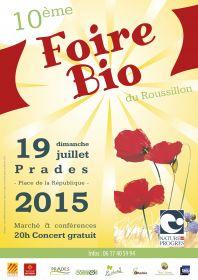 10ième Foire Bio de Prades organisée par Nature & Progrés le dimanche 19 juillet