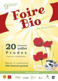 9ième Foire Bio de Prades organisée par Nature & Progrés le dimanche 20 juillet