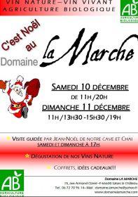 Le Domaine La Marche vous invite les samedi 17 et dimanche 18 décembre à découvrir nos vins nature