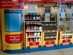 Le petit train jaune des produits bio locaux arrivé en gare BIOCOOP