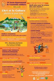 10ème Forum départemental de l'économie solidaire R.E.LA.I.S le samedi 24 novembre à Toulouges